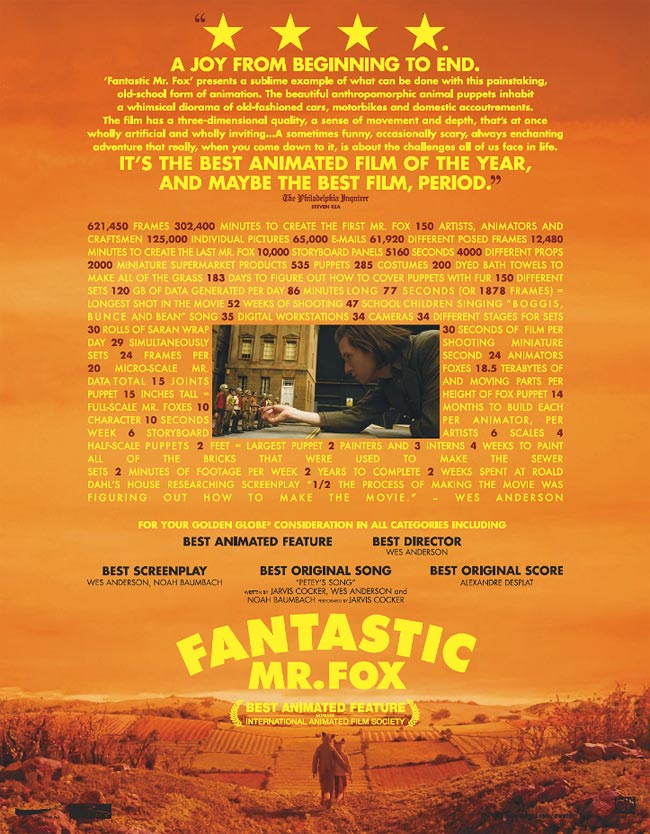 Fantastic Mr. Fox For Your Consideration Ad