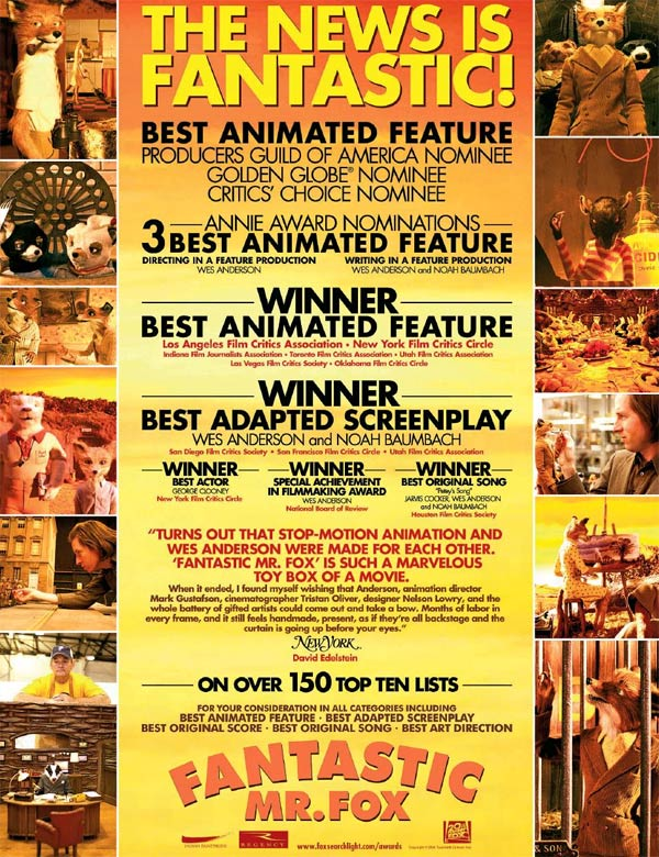 Fantastic Mr. Fox For Your Consideration Ad 2