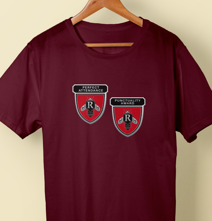 ff3258094aa78 Perfect Attendance and Punctuality Award Pins T-Shirt – The Rushmore ...